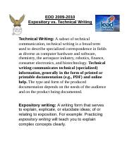 Expositoryvstechnical.doc