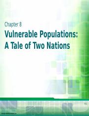 Chapter 8 - Vulnerable Populations