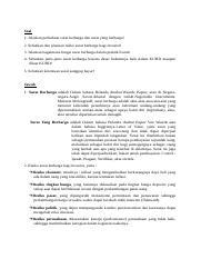 Latihan Soal Hukum Komersial Sesi 6 Docx Soal 1 Jelaskan Perbedaan Surat Berharga Dan Surat Yang Berharga 2 Sebutkan Dan Jelaskan Risiko Surat Course Hero