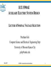 Lecture-4 Nominal Voltage Selection