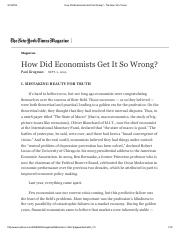How Did Economists Get It So Wrong_ - The New York Times