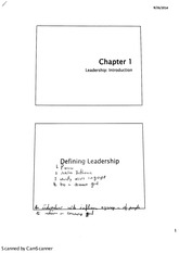 MGMT 4470 Leadership (Chapter 1 Introduction)