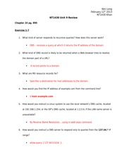 nt1430 linux chapter 20 exercises View homework help - unit5 chapter20 exercises 1-21-13 from nsa nt1430 at itt tech grand rapids line following the dnl it is used to set off comments 5 spamassassin is installed on your mail.