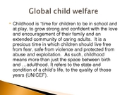 Global child welfare