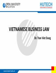 TVD - Vietnam business law - topic 2