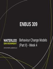 ENBUS 309_Week 4_Behaviour Change_ Models_Part II