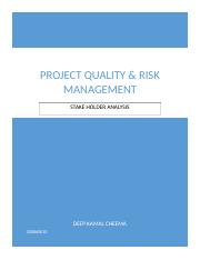 Deep case study risk and quality