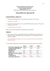 Tutorial 4 Suggested Answers