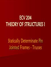Theory of Structures I - Statically Determinate Trusses.pdf