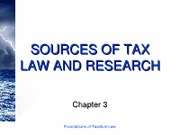 Sources of tax law and research[ppt]