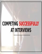 BFS1001 - Competing Successfully At Interviews - Lynette Leow