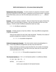 MATH 1410 Sections 5.5 - 5.6 Lecture Notes