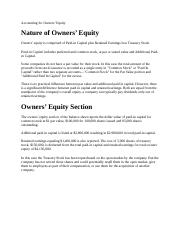 Accounting for Owners Equity.docx