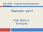 CEE 5930 Regression -- Part 4 -- Fall 2014