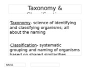 Classification and Domains