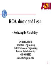 SE Module 27 New -RCA, dmaic, and lean(2).ppt