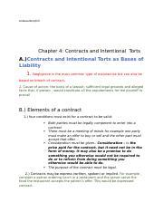 Chapter 4 Contracts and Intentional Torts.docx
