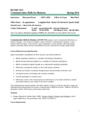 BCOM7255SyllabusWysorSpring2014