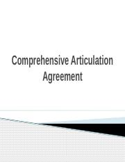 Comprehensive Articulation Agreement
