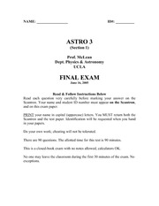 Previous Final Exam (with Answers)