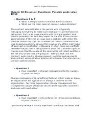 Week 5- Chapter 10 Discussions .docx