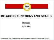 L7 Relations Functions and Graphs