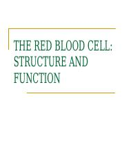 03 RBC structure and function