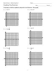 Printables Trig Graphs Worksheet translating trig graphs e v 2 w k 1 a j u c t x 4 s 8 pages graphing functions