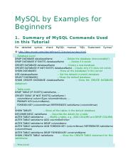 MySQL by Examples for Beginners