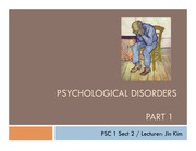 5_Psychological Disorders Part 1_5-27-14