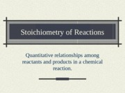 7. Stoichiometry of Reactions.ppt