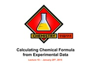 L10 Calculating Chemical Formula