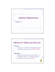 Methods for Measuring Distances
