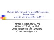 GRU SOWK 3300 Session 6- Theoretical Perspectives on Human Behaviour 2