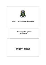 Study guide 2011 Treasury management