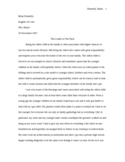 OLDEST CHILD RESEARCH PAPER