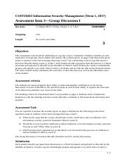 COIT20263 Information Security Management_Assignment 3