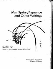 Sui Sin Far Mrs Spring Fragrance