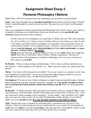 Assignment Sheet 5 This i believe essay SU17.pdf
