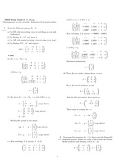 Exam 2 Study Guide Solution Spring 2010 on Engineering Mathematics III (Numerical Methods)