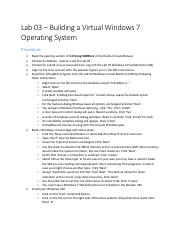 Lab 03 - Procedure for Building a Virtual Windows 7 Operating System(1).pdf