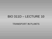 Lecture 10 plant transport posted