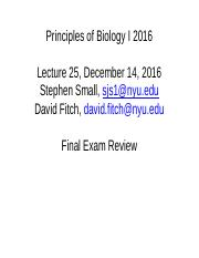 PoB I 2016 Final exam review