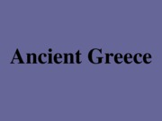 Ancient Greece (1)