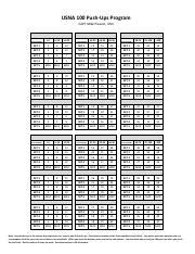 USNA 100 Push-up pdf - USNA 100 Push-Ups Program CAPT Mike