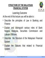 2 - STRUCTURE OF THE MALAYSIAN FINANCIAL SYSTEM.pptx