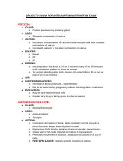 Maternal Health EXam 2 Drugs