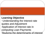 topic 4 Interest rate
