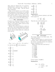 Second Exam-solutions