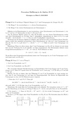 Exercise Sheet 2 Solution